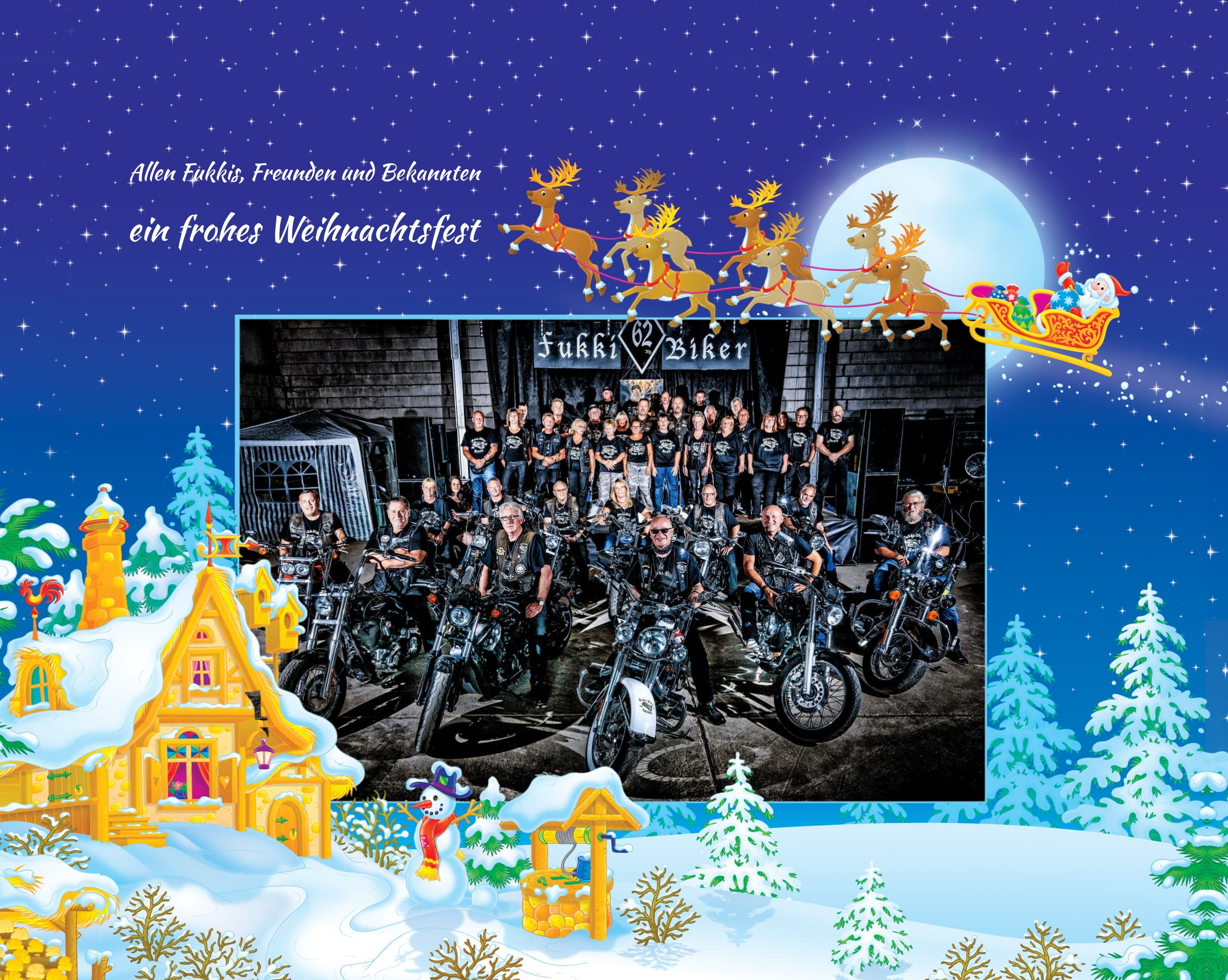 Frohe Weihnachten Und Guten Rutsch In Neues Jahr.Frohe Weihnachten Und Guten Rutsch Ins Neue Jahr Fukki Biker